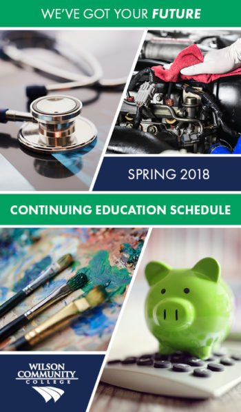 Spring 2018 Continuing Education Schedule