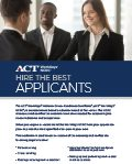 ACT WorkKeys NCRC Information Flyer