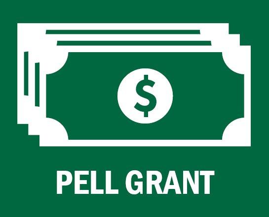 dollar bill the text Pell Grant below