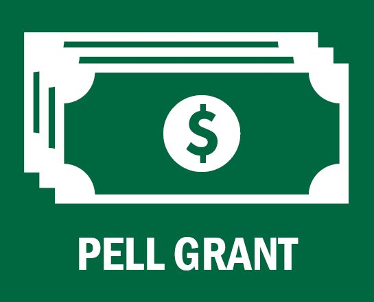 dollar bill the text Pell Grant below