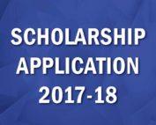 2017-2018 Scholarship Application image