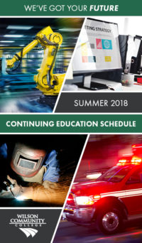 Summer 2018 Continuing Education Schedule booklet