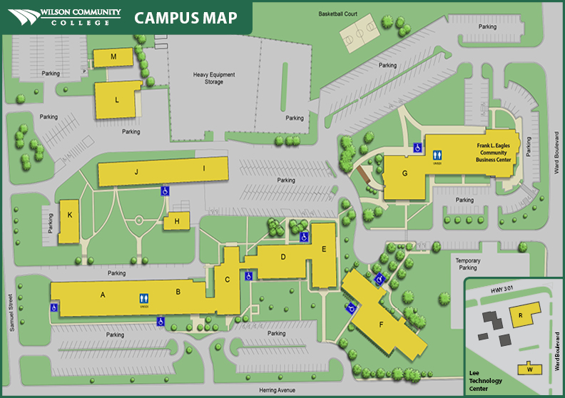 Map of Wilson Community College campus