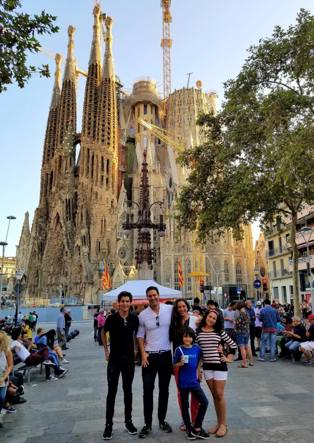 Faculty Travel Abroad Program Coordinator and Group Leader, Mr. Luis Benavent,at La Sagrada Familia Cathedral in Barcelona, Spain