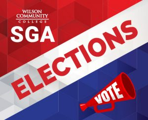 Wilson COmmunity College SGA Elections, Vote!