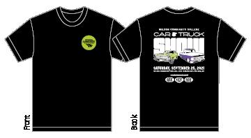 Mock-up of 2021 Car & Truck Show T-shirt Design