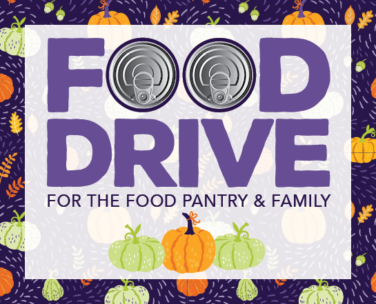 food drive for the food pantry and family