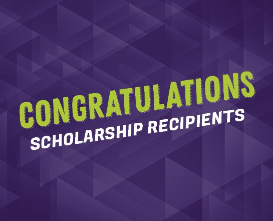 Congratulations Scholarship Recipients