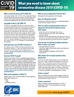 cdc need to know factsheet